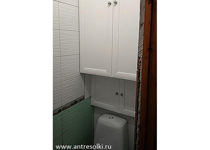 Сантехнический шкаф фасад с филенкой (пример №17)
