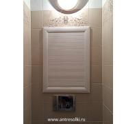 Сантехнический шкаф с наборной планкой (пример №13)
