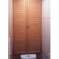 Сантехнический шкаф фасад с наборной планкой (пример №1)