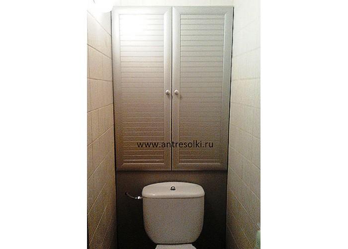 Сантехнический шкаф с наборной планкой (пример №22)