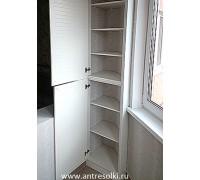 Антресольный шкаф фасад МДФ с наборной планкой (пример №43)