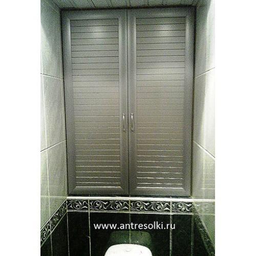 Сантехнический шкаф с наборной планкой (пример №20)