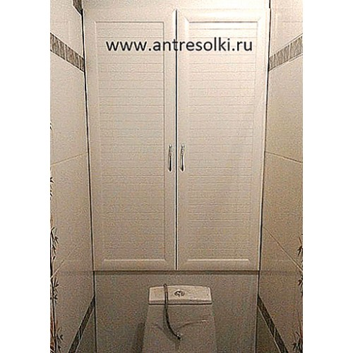 Сантехнический шкаф с наборной планкой (пример №16)