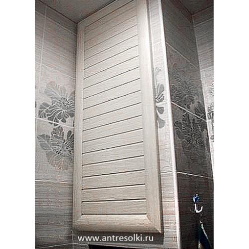 Сантехнический шкаф с наборной планкой (пример №14)